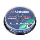 Носители информации CD-R, 52x, Verbatim Extra Protection, Cake/10, 43437