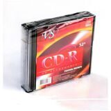 Носители информации CD-R, 52x, VS, Slim/5, VSCDRSL501
