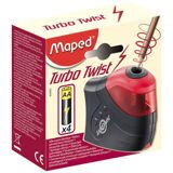 Точилка MAPED Turbo Twist 1 отв., с конт.,элек.,раб. на бат.026031