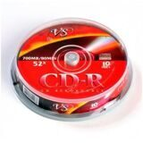 Носители информации CD-R, 52x, VS, Cake/10, VSCDRCB1001
